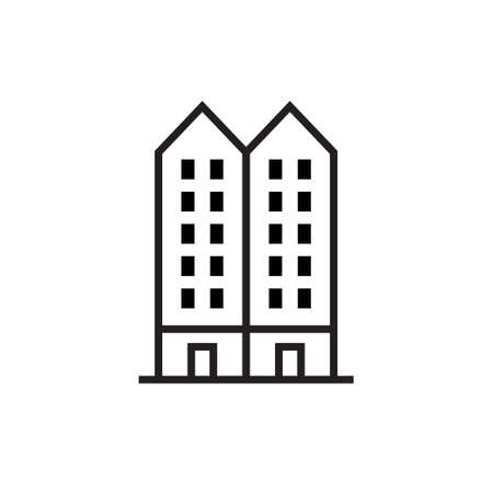 Building icon design with line. Vector Illustration 向量圖像
