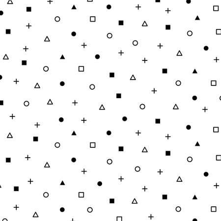 Geometric background pattern with black color. Vector Illustration Ilustração