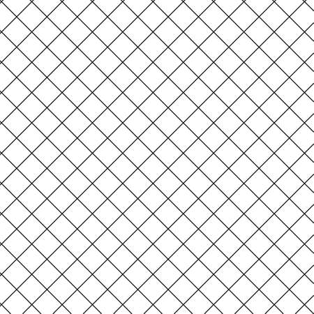 Simple black and white diagonal, square, checkered geometric background, seamless background, texture. Flat straight transverse. Vector Illustration