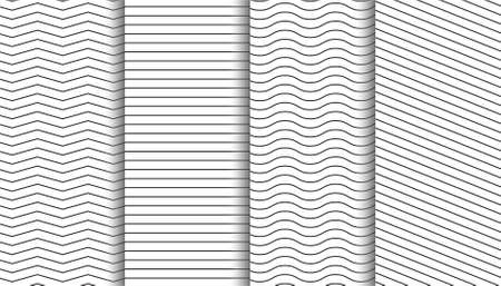 Elegant clean white minimal geometric patterns set Vector