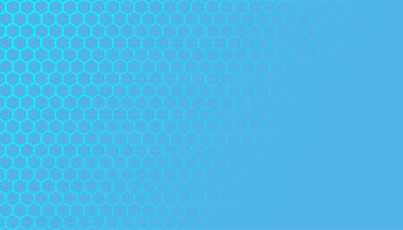 Blue hexagonal honeycomb mesh pattern with text space Vector