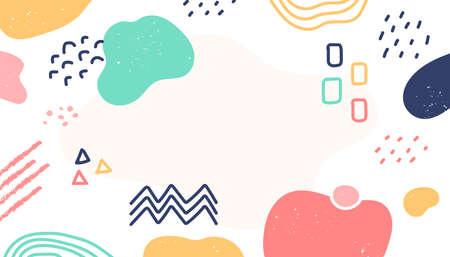 Various backgrounds and abstract patterns of cute shapes vector