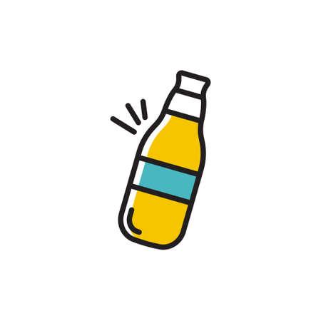 Drink bottle icon, flat design concept. Vector illustration
