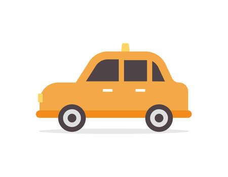 Taxi cars in flat design vector illustration