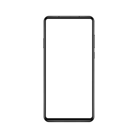 Smartphone mockup vector illustration. Ilustração