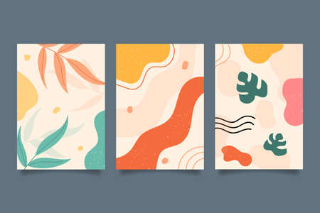 Abstract hand drawn shapes covers. Vector Illustration
