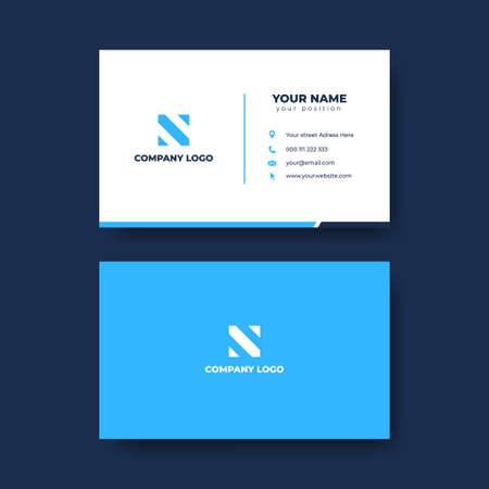 Modern professional business card template vector Ilustração