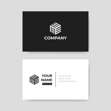 Modern professional business card template vector Ilustracja