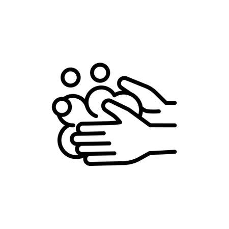 Vector icon for washing hands to avoid spreading the coronavirus