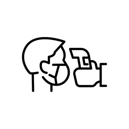 Simple Icon Illustration Showing Body Temperature Check Sign during Covid-19 Outbreak.