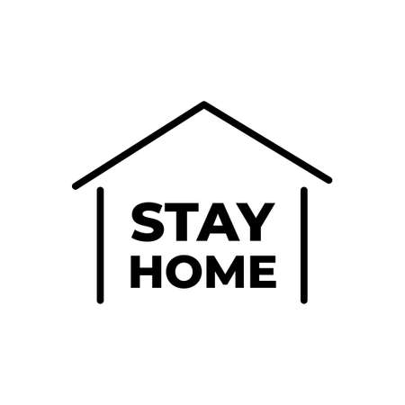 Stay home icon, stay safe to avoid the corona virus. Vector Illustration