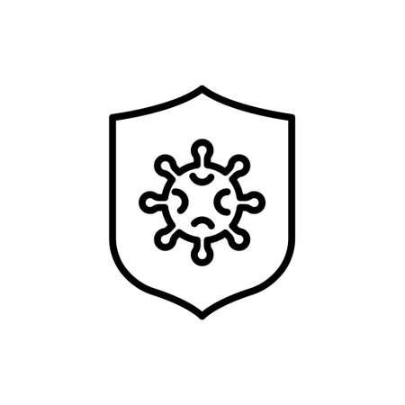 Coronavirus protection icon. Vector Illustration