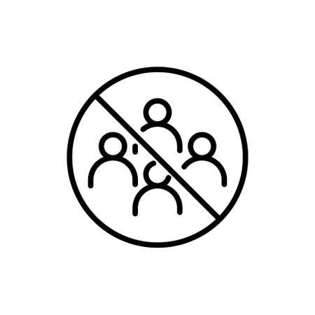 No gathering icon, to avoid the spread of the coronavirus. Vector Illustration Ilustração