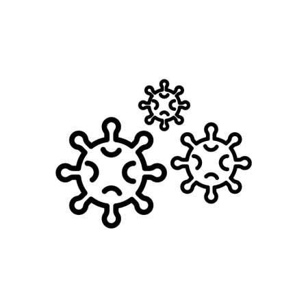 Coronavirus covid-19 vector icon. Asian flu epidemic worldwide Ilustração