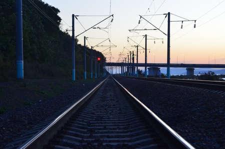 railroad receding into the distance