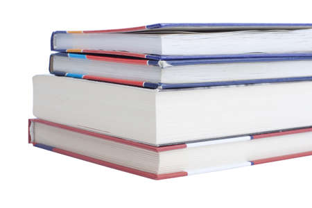 Pile of books isolated on white Stock Photo - 12043583