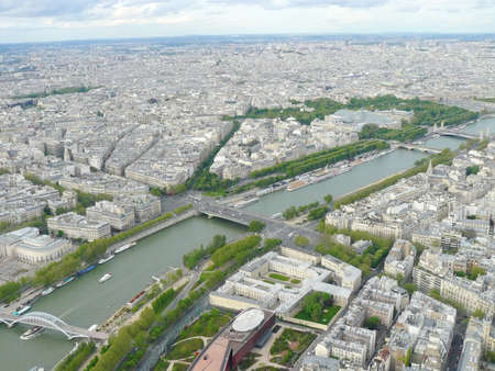 Paris cityscape aerial view. photo