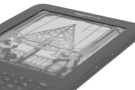 Amazon kindle e-reader close up