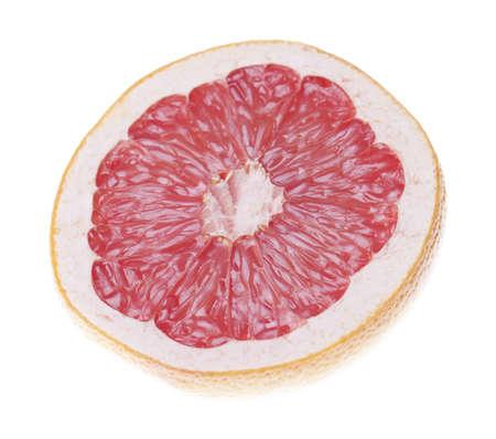 Halved grapefruit isolated on white photo