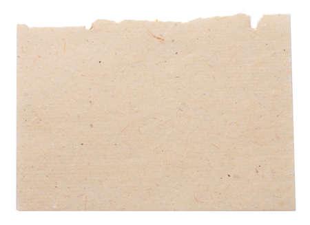 papier naturel: Jaune feuille de papier naturel isol� sur blanc Banque d'images