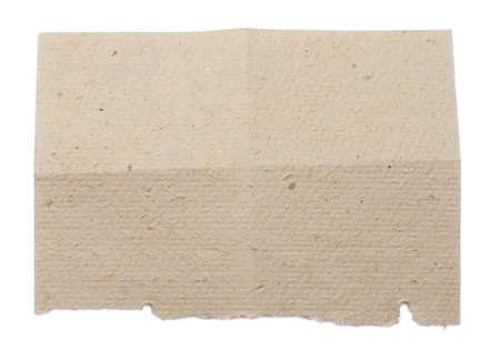 papier naturel: Jaune papier naturel pli� en quatre Isol� sur fond blanc