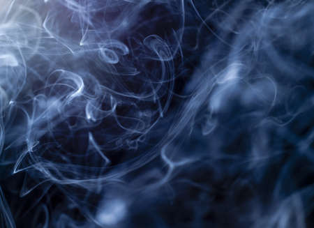 Abstract smoke flow pattern isolated