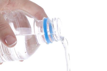 Mujer saliendo del agua botella de pl�stico froma Foto de archivo - 13127435