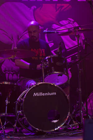 VELIKO TARNOVO, BULGARIA - JUNE 1: Bandx - ACDC tribute band performs a show at Motorock festival Veliko Tarnovo 2012, on June 1, 2012 in Veliko Tarnovo, Bulgaria.