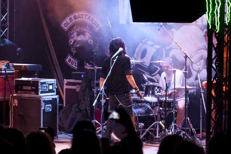 veliko: VELIKO TARNOVO, BULGARIA - JUNE 2: Joe Lynn Turner band performs a show at Motorock festival Veliko Tarnovo 2012, on June 2, 2012 in Veliko Tarnovo, Bulgaria. Editorial