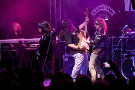 VELIKO TARNOVO, BULGARIA - JUNE 2: Joe Lynn Turner band performs a show at Motorock festival Veliko Tarnovo 2012, on June 2, 2012 in Veliko Tarnovo, Bulgaria.