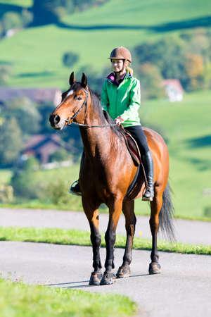 Donna a cavallo Archivio Fotografico - 29128442