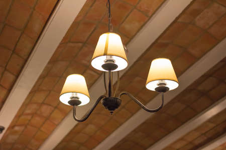 ceiling: Ceiling lamp Stock Photo