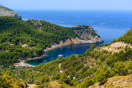 major ocean: Beautiful view of the bay of Cala Tuent. Majorca. Balearic Islands. Spain