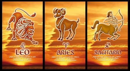 sagitario: signo zodiacal de fuego Foto de archivo