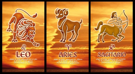 zodiac sign of fire photo