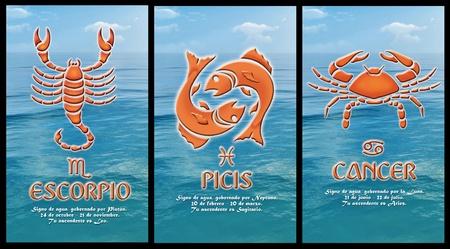 segno zodiacale d'acqua Archivio Fotografico - 11126348