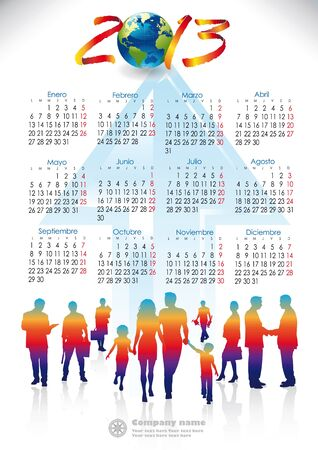 version Spain 2013 calendar group of people working and arrow Ascending Order