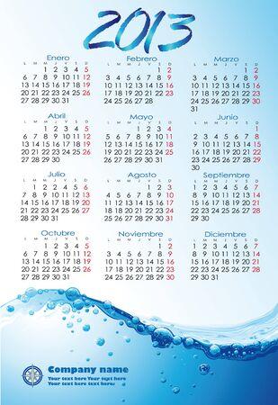 Water version Spain 2013 Calendar Illustration