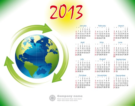 2013 Calendar reciclage English version Illustration