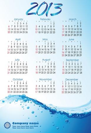 Water Calendar 2013 English version
