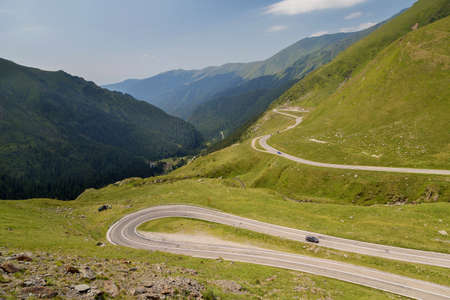 Mountain road  Transfagarasan road in summer Stock Photo