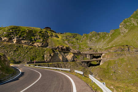 transfagarasan: Mountain road  Transfagarasan road in summer Stock Photo