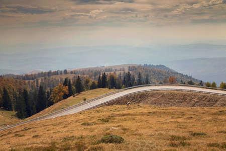 Mountain road scenic in autumn