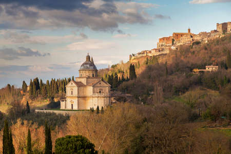 Landscape in Tuscany, at Montepulciano Stock Photo