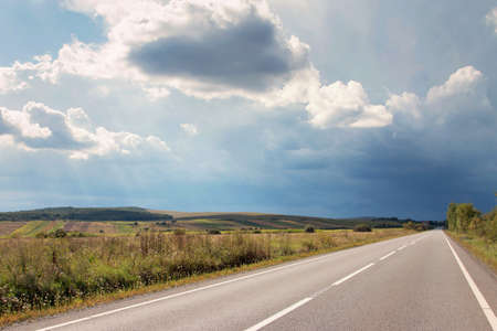 Empty Country Road Stock Photo