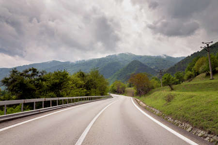 トランシルバニアの山道