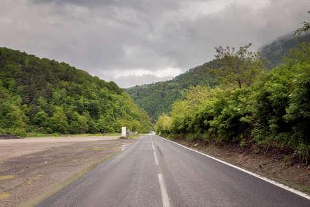 Mountain road in Transylvania