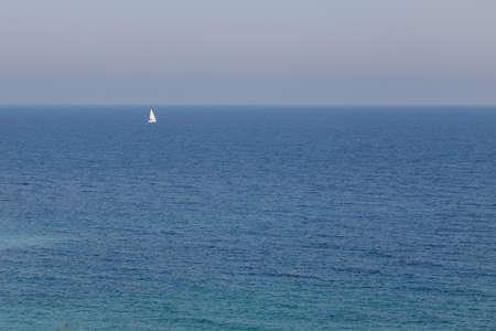 Sailboat navigating on Black Sea