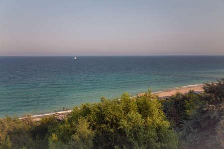 Summer landscape on a savage beach at the Black Sea, Romania
