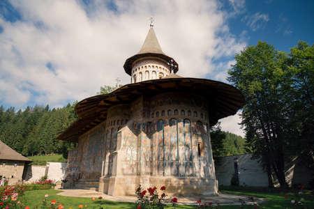 ヴォロネ正教会の修道院、ブコヴィナ、ユネスコの世界遺産のリストに記載されています 写真素材